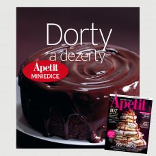 Roční předplatné Apetit + Miniedice kuchařka Dorty a dezerty