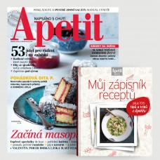 Roční předplatné Apetit + Kuchařka Můj zápisník receptů
