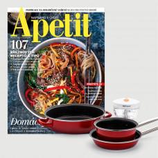 Roční předplatné Apetit + set nádobí Delimano