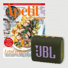Roční předplatné Apetit + Bluetooth reproduktor JBL GO 3 Green
