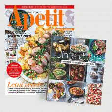 Roční  předplatné Apetit + Kuchařka Jíme dobře