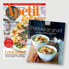 Roční  předplatné Apetit + Kuchařka Polévka je grunt