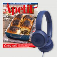 Roční předplatné Apetit + Sluchátka JBL TUNE 500 BLUE