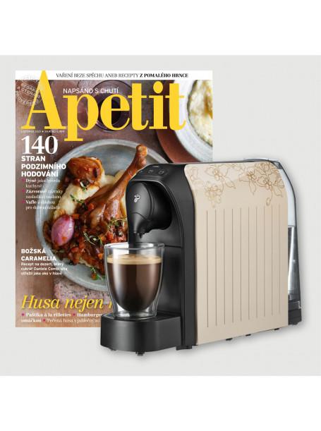 Roční předplatné Apetit + kávovar Tchibo Cafissimo Light Beige