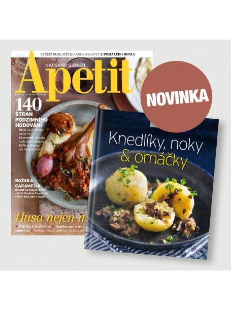 Roční  předplatné Apetit + Kuchařka Knedlíky & omáčky